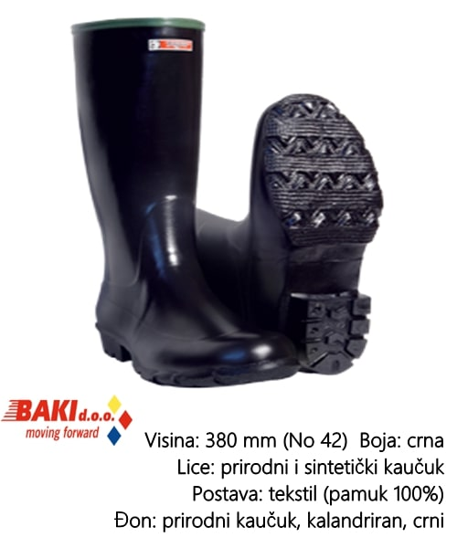CIZMA VISOKA CRNA 41 70200