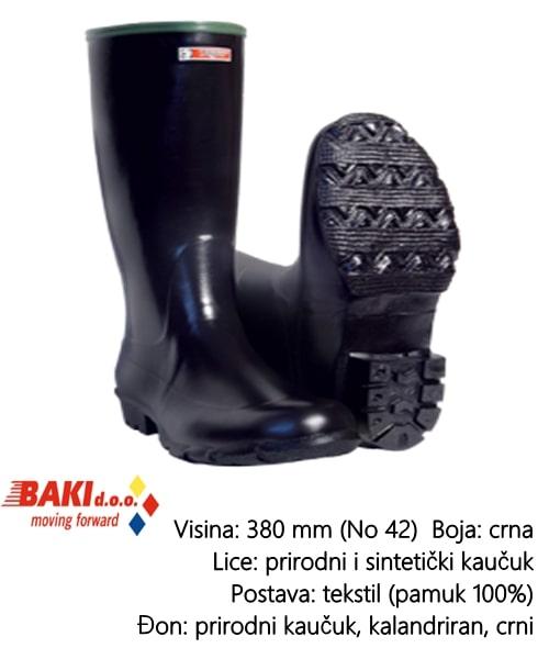 CIZMA VISOKA CRNA 43 70200